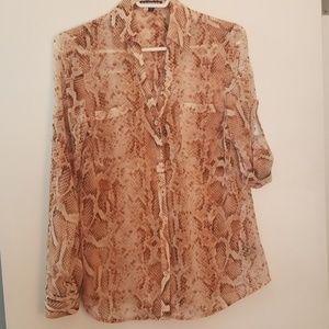 Snake skin portofino blouse